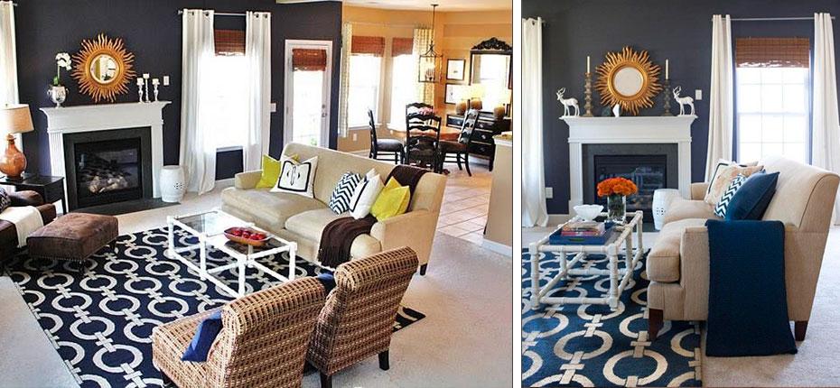 Como elegir la medida de una alfombra blanca rey - Salones con alfombras ...